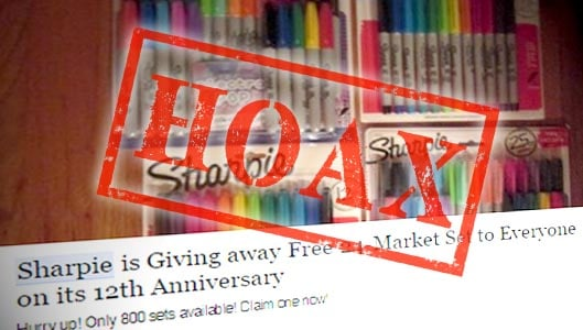 Is The Sharpie Facebook Giveaway A Scam